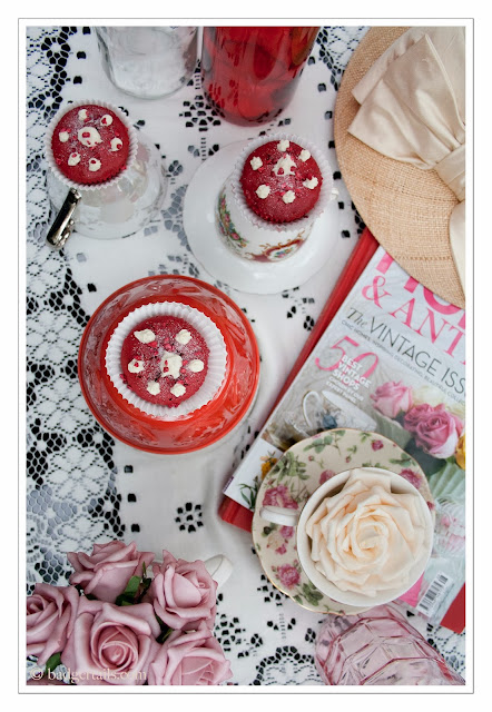 raspberry rose cupcakes with rose water frosting food photography