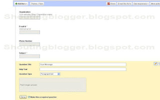 Add contact us Form blogger