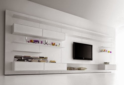 modern LED cabinet with storage system model