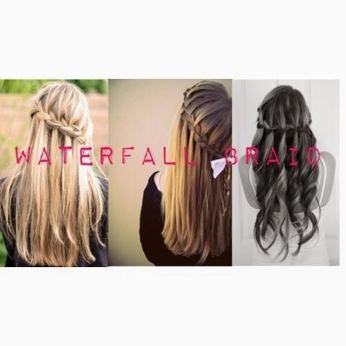 Cara Mengikat Rambut Panjang Ala Waterfall Braid