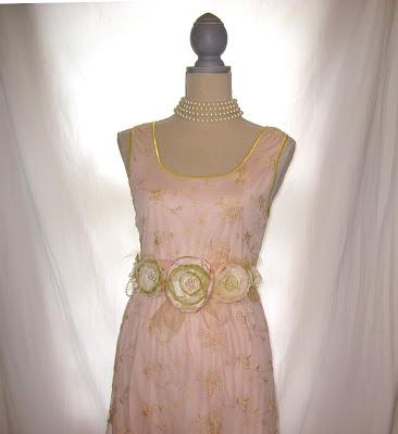 Wedding Lace Dress with Bolero and Handmade Belt, Size 10