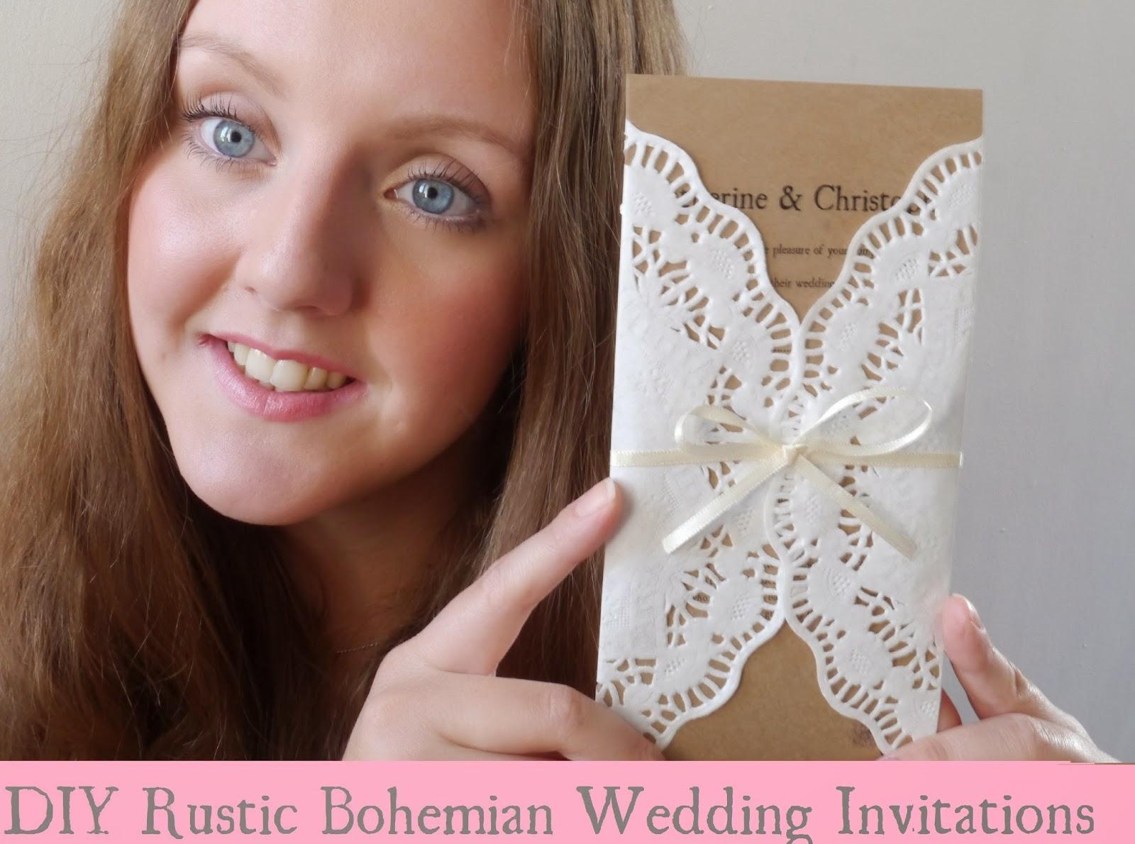 laydey katabella diy rustic bohemian wedding invitations