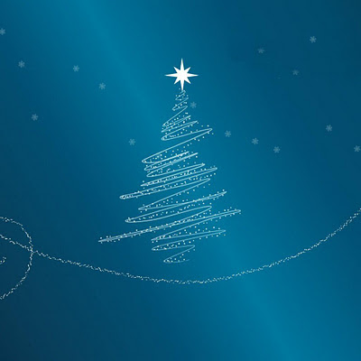 Blue Xmas Tree download free wallpapers for Apple iPad
