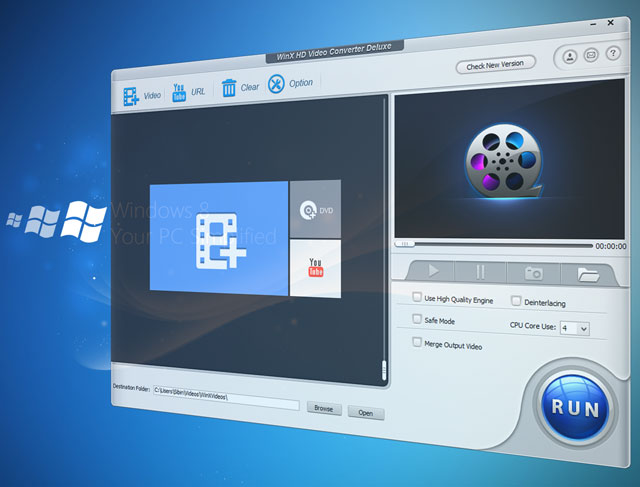 Download WinX HD Video converter software