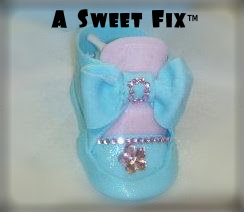 Fondant Jeweled Baby Shoe