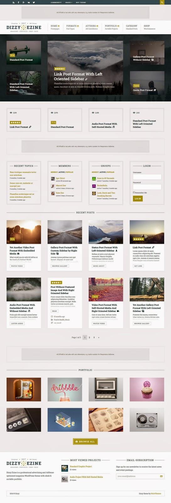 Premium Magazine WordPress Ads ready template