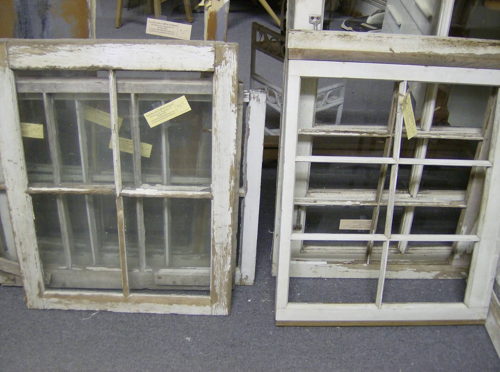 Country Lane Crafts & Antiques: Removing glass from old windows