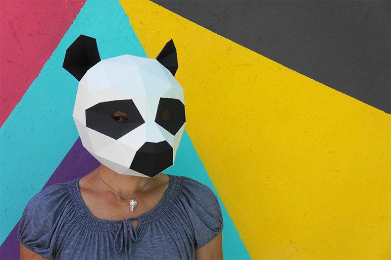 Nuevos bricolaje de máscaras geométricas para Halloween por ...