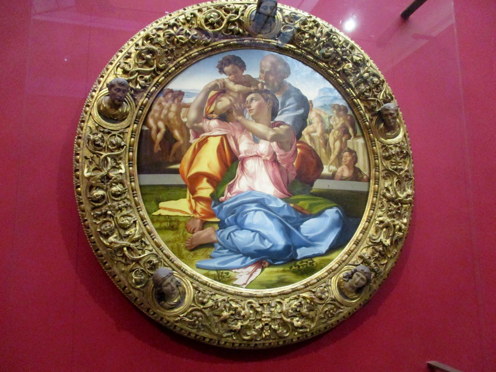 GALERIE DES OFFICES- FLORENCE- LA SAINTE FAMILLE-1504