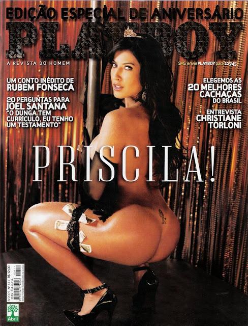 Confira as fotos da gostosa princesa devassa do Big Brother Brasil 9, Priscila Pires, capa da Playboy especial de 34º aniversário, agosto de 2009!