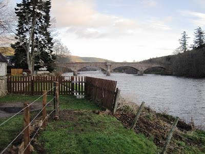 Deeside walks: the path around Ballater Golf Course approaches the Bridge of Ballater