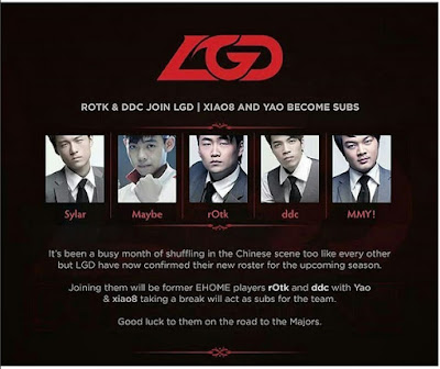 LGD dota 2 roster 2015