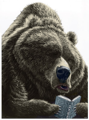 black and white illustration - bear illustartions - editorial