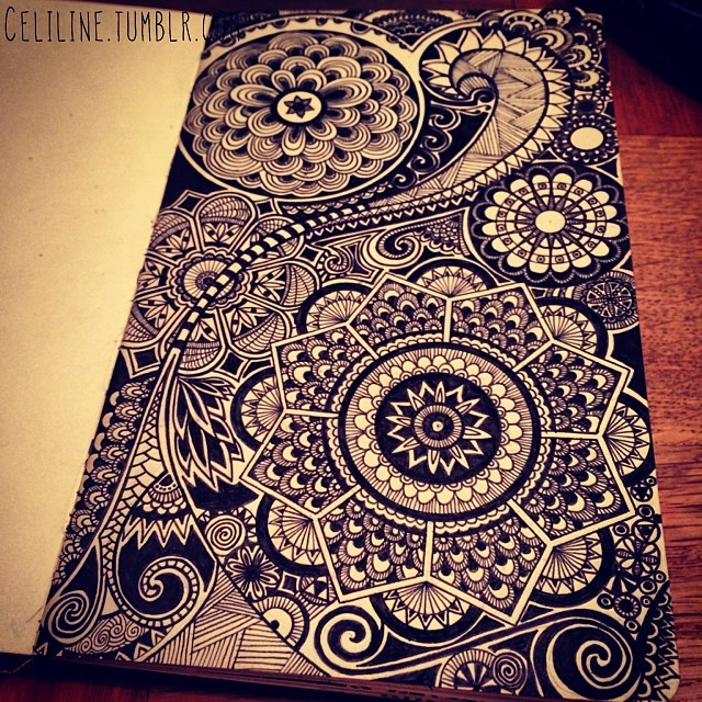 03-Celiline-Hand-Drawn-Zentangle-Doodles-Illustrations-Drawings-www-designstack-co