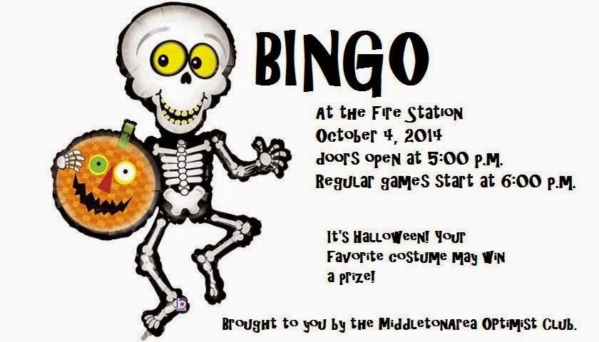 Middleton Area Optimist Club bingo