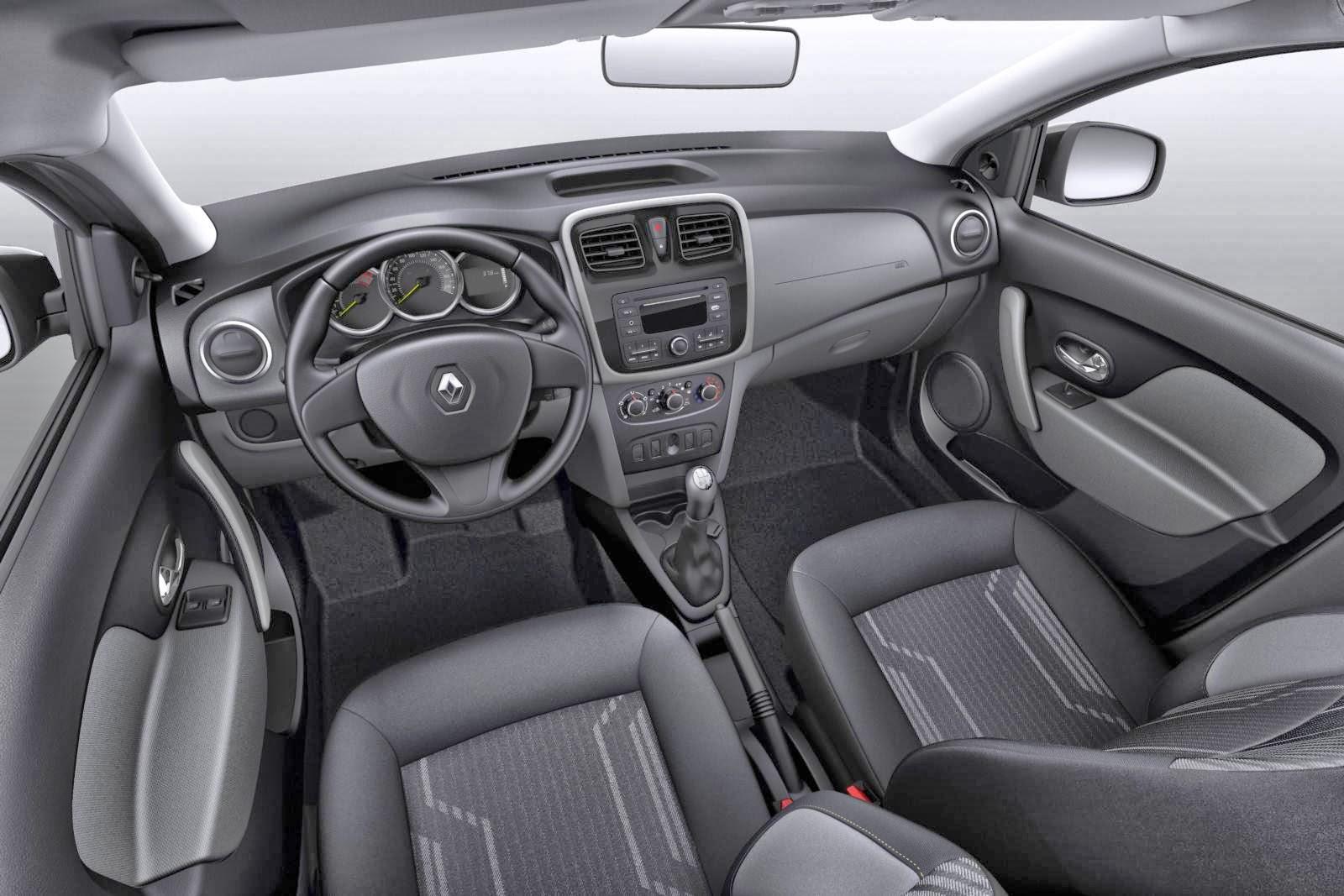 carro Logan Renault 2014 - interior