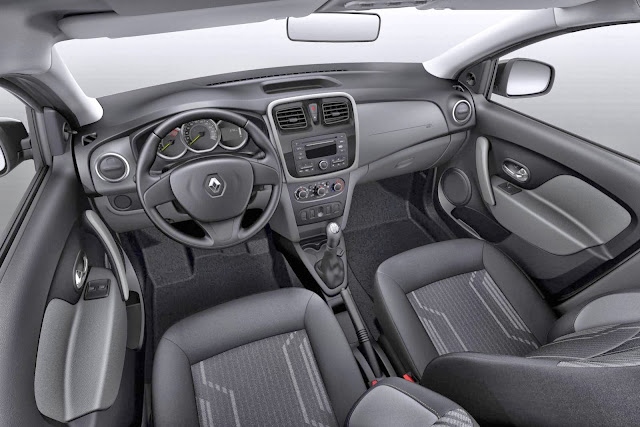 Novo Renault Logan 2014 Expression - interior