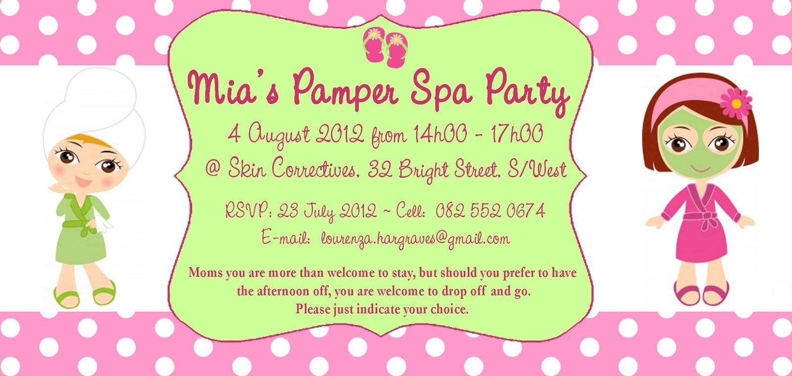 pamper party invitation templates free