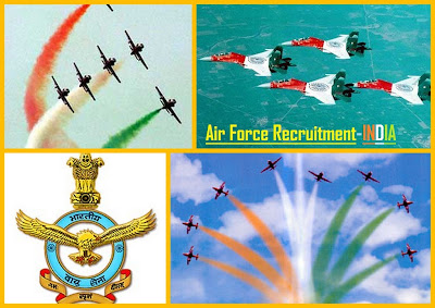 Air Force Recruitment till july 9 2012 apply online India jobs results careed Airlines Airforce
