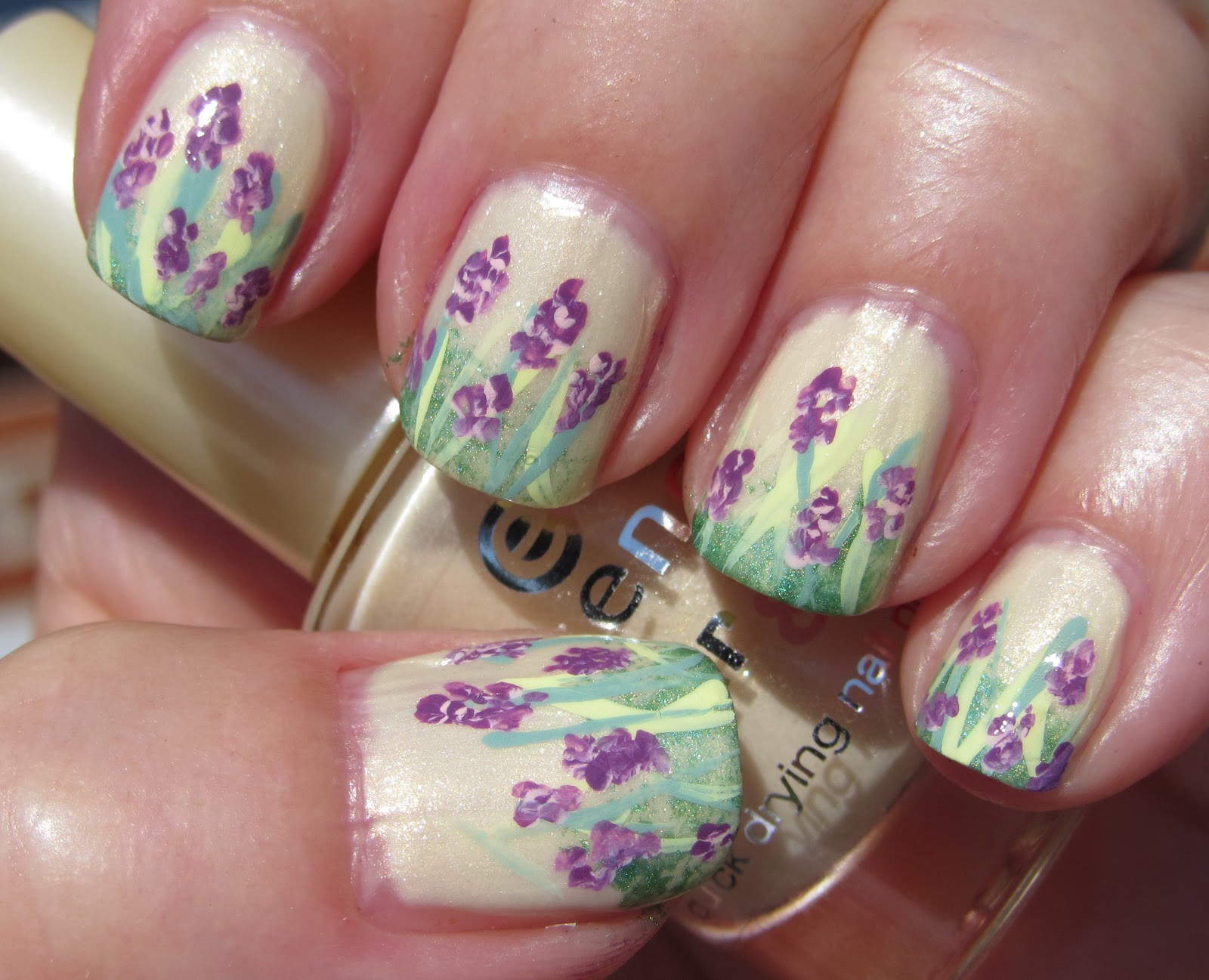 Marias Nail Art and Polish Blog: Wild orchids on Mellow Yellow