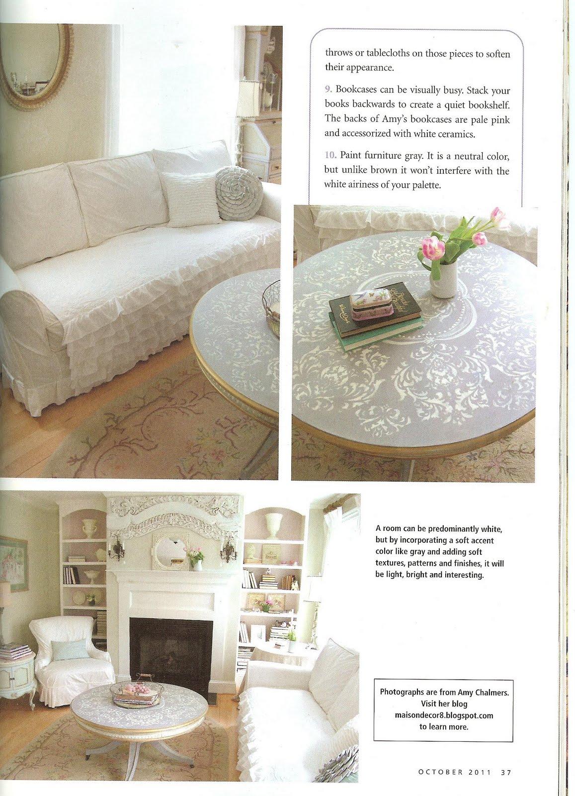 Maison decor a romantic homes mag feature scotchblue winner for Decoration maison winners