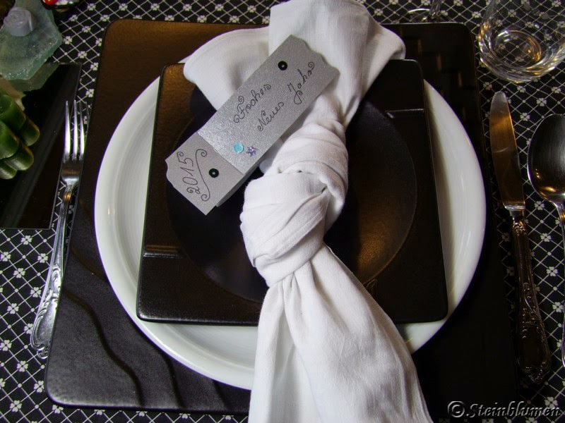 weiße Tischdeko Silvester