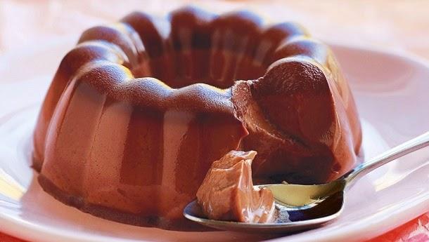 Receita de gelatina de chocolate deliciosa
