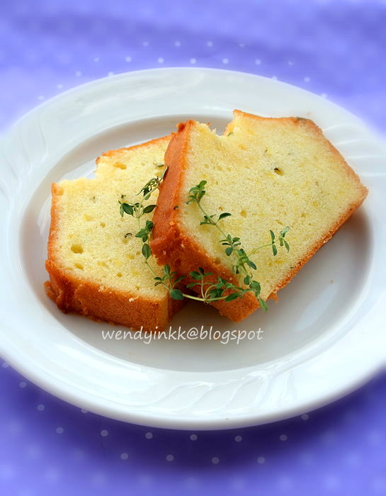 Table for 2.... or more: Lemon Thyme Pound Cake - Butter Cake # 2