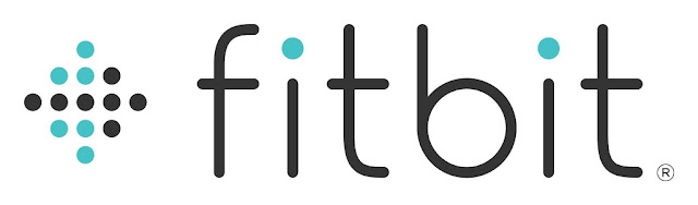 The Fitbit logo next to a graphic of an arrow pointing forward.