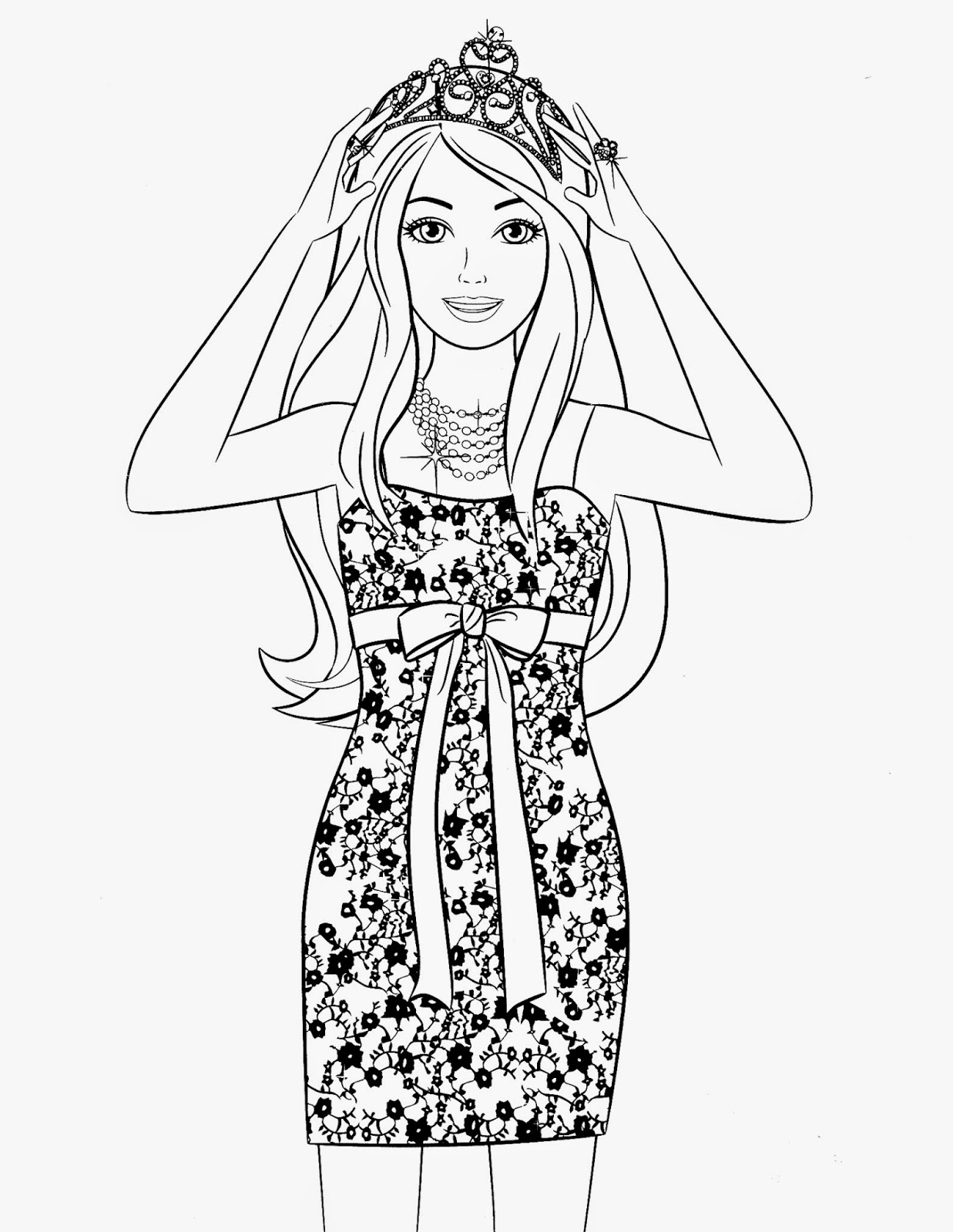 Coloring pages barbie free printable coloring pages for Fashion barbie coloring pages