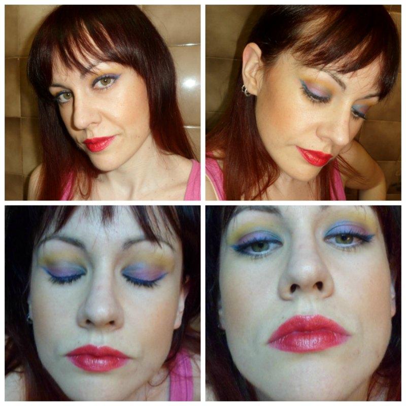 Maquillaje para empezar con la primavera (morado, amarillo, verde y rosa)
