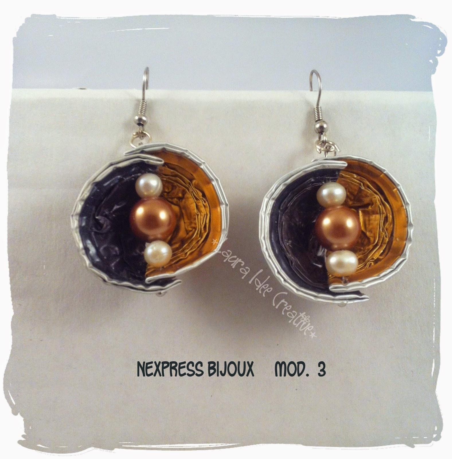 Preferenza Laura Idee Creative: Bijoux con le cialde nespresso? Nexpress bijoux DU82