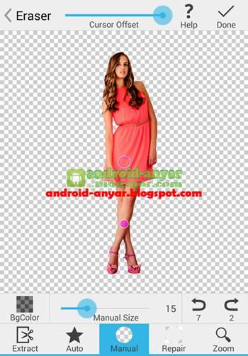 Tutorial cara ganti warna background foto dengan HP Android