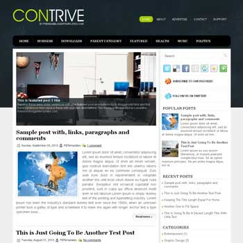 Contrive blog template. magazine blogger template style. magazine style template blogspot