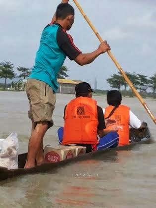 Lima Desa di Kudus Hampir Tenggelam, Relawan Evakuasi Warga