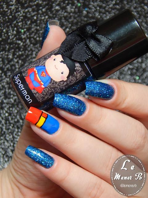 nail art super homem