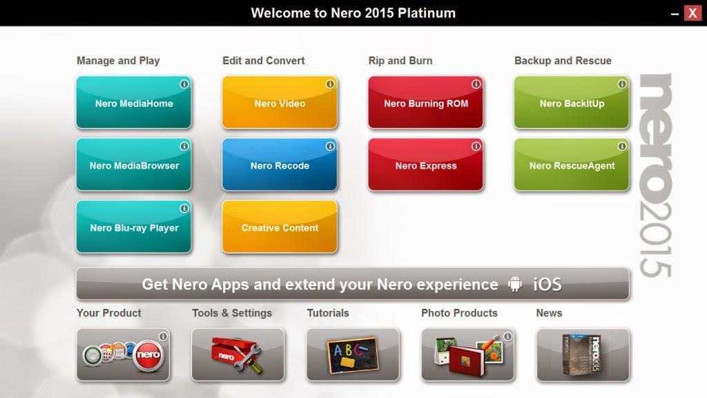Nero 2015 Platinum Serial válido grátis