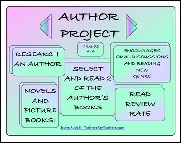 photo of Author Project Books and Picture Books, PDF, Ruth S., TeachersPayTeachers.com