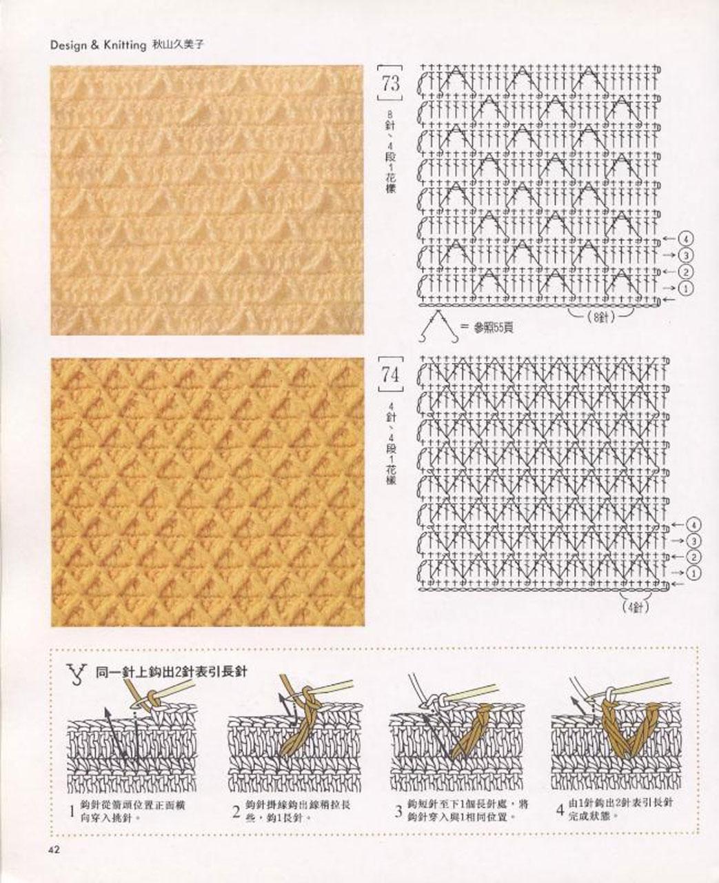 Вязание крючком узоры схемы плотного вязание