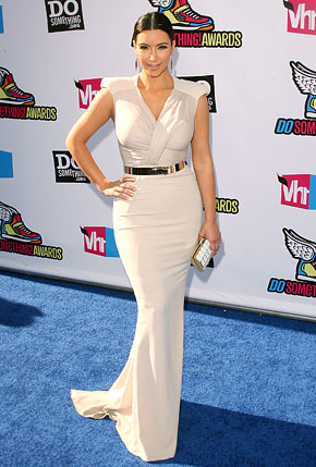 Night Dress on World  Super Slim Kim Kardashian Tight White Dress Before Wedding