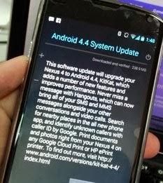 Cara Mengatasi permasalahan fatal pada Google Nexus 4 setelah update Android 4.4 KitKat