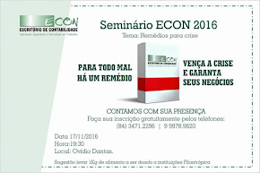 SEMINÁRIO ECON 2016