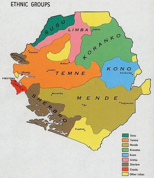 Map of Ethnic Peoples of Sierra Leone