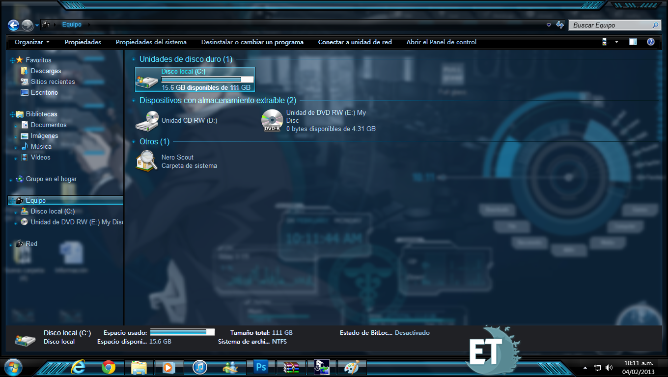 Psycho pass theme windows 7 rainmeter skins windows 7 for Bureau windows 7 rainmeter