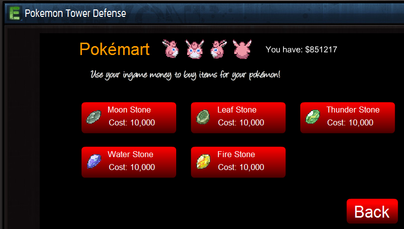 Pokemon tower defence casino coins