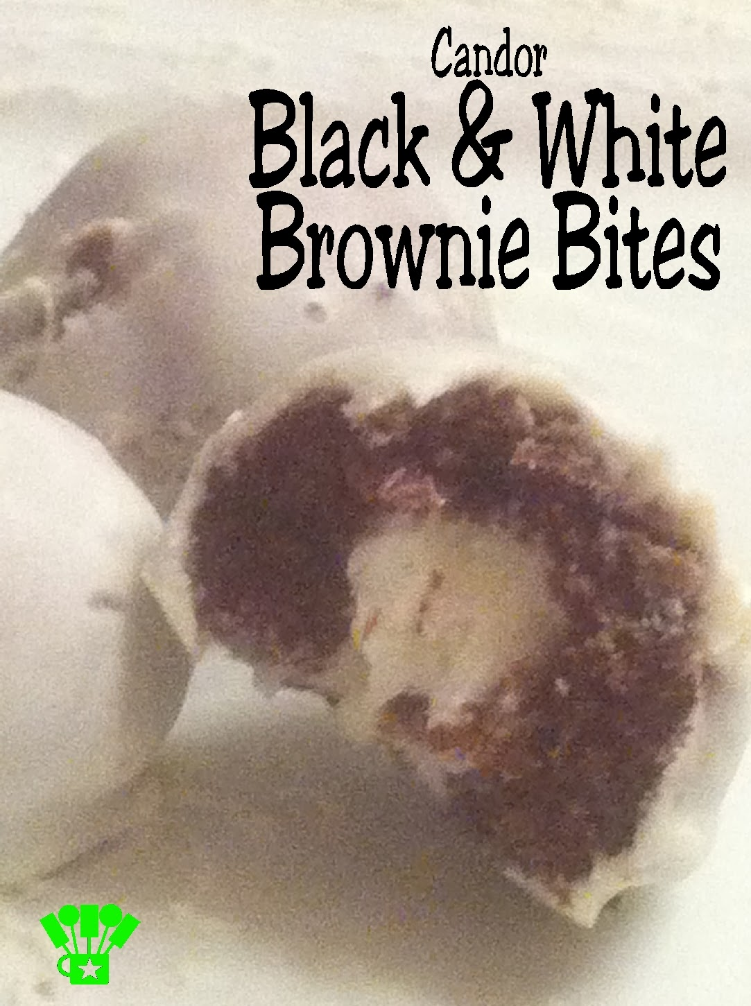 Black and White Brownie Bites from Faction Candor at a Divergent Party.