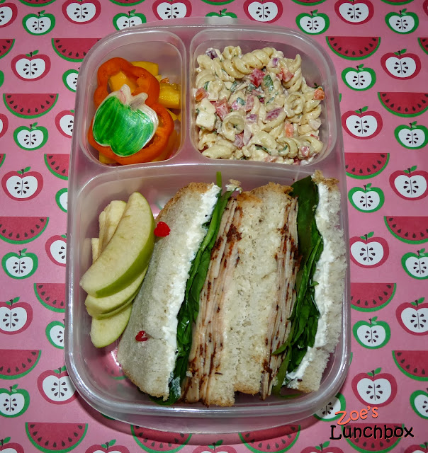 Cajun turkey sandwich Easylunchboxes Bento Lunch