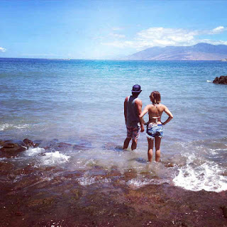 Lucy Hale and Anthony Kalabretta in Maui, Hawaii