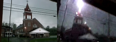 Grand Isle St. Gerard Church Struck by lightning
