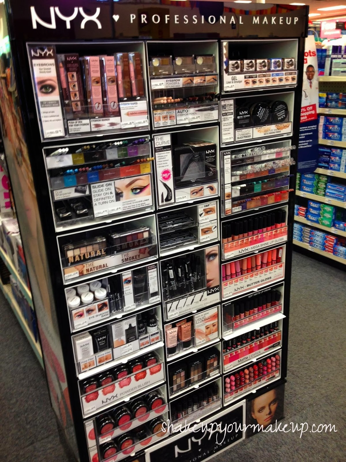 spotted at cvs  nyx cosmetics permanent display